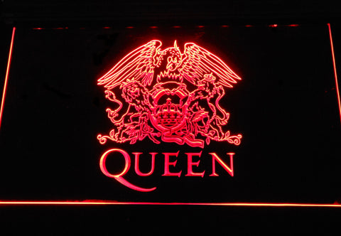 Queen LED Neon Sign - Red - SafeSpecial