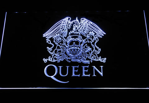 Queen LED Neon Sign - White - SafeSpecial
