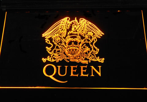 Queen LED Neon Sign - Yellow - SafeSpecial