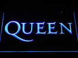 Queen Wordmark LED Neon Sign - Blue - SafeSpecial