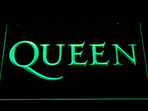Queen Wordmark LED Neon Sign - Green - SafeSpecial