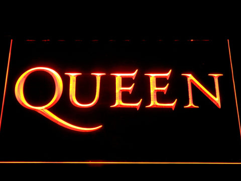 Queen Wordmark LED Neon Sign - Orange - SafeSpecial