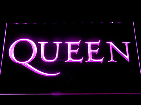 Queen Wordmark LED Neon Sign - Purple - SafeSpecial