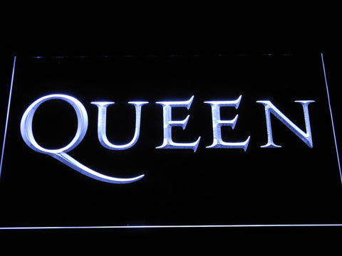 Queen Wordmark LED Neon Sign - White - SafeSpecial