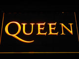 Queen Wordmark LED Neon Sign - Yellow - SafeSpecial
