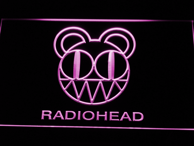 Radiohead LED Neon Sign - Purple - SafeSpecial