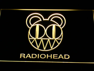 Radiohead LED Neon Sign - Yellow - SafeSpecial