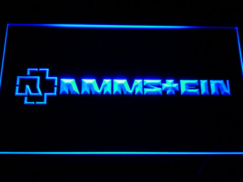 Image of Rammstein LED Neon Sign - Blue - SafeSpecial