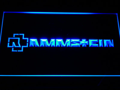 Rammstein LED Neon Sign - Blue - SafeSpecial