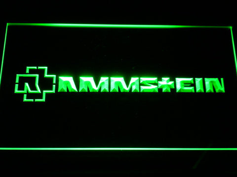Image of Rammstein LED Neon Sign - Green - SafeSpecial