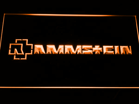 Image of Rammstein LED Neon Sign - Orange - SafeSpecial