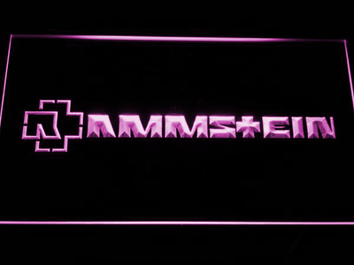 Rammstein LED Neon Sign - Purple - SafeSpecial