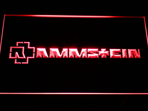 Image of Rammstein LED Neon Sign - Red - SafeSpecial