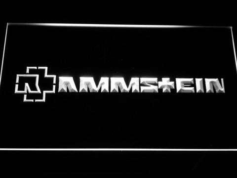 Image of Rammstein LED Neon Sign - White - SafeSpecial