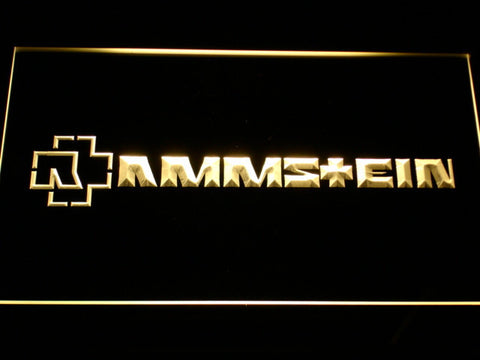 Rammstein LED Neon Sign - Yellow - SafeSpecial