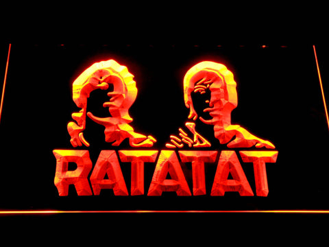Ratatat LED Neon Sign - Orange - SafeSpecial
