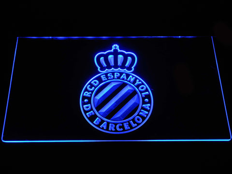 Image of RCD Espanyol LED Neon Sign - Blue - SafeSpecial