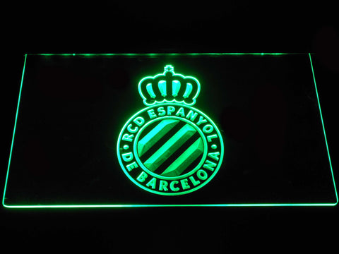 Image of RCD Espanyol LED Neon Sign - Green - SafeSpecial