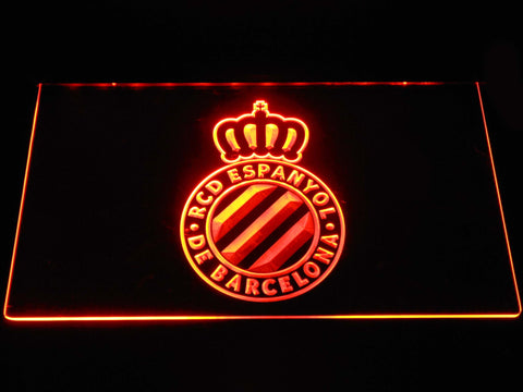 Image of RCD Espanyol LED Neon Sign - Orange - SafeSpecial