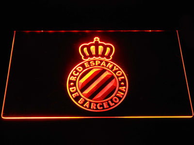 RCD Espanyol LED Neon Sign - Orange - SafeSpecial