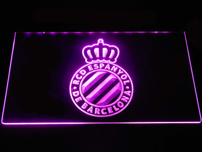RCD Espanyol LED Neon Sign - Purple - SafeSpecial