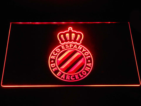 Image of RCD Espanyol LED Neon Sign - Red - SafeSpecial