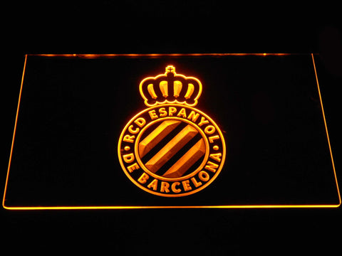 Image of RCD Espanyol LED Neon Sign - Yellow - SafeSpecial