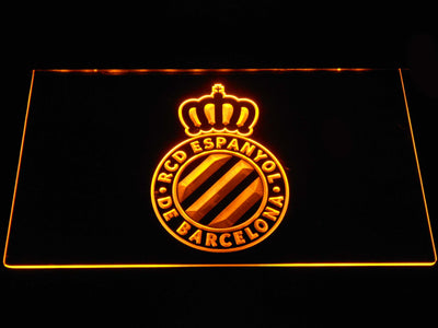 RCD Espanyol LED Neon Sign - Yellow - SafeSpecial