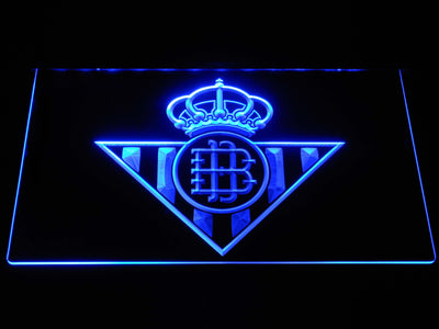 Real Betis LED Neon Sign - Blue - SafeSpecial