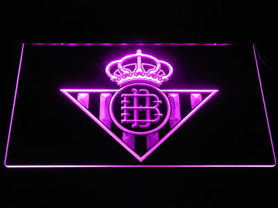 Real Betis LED Neon Sign - Purple - SafeSpecial