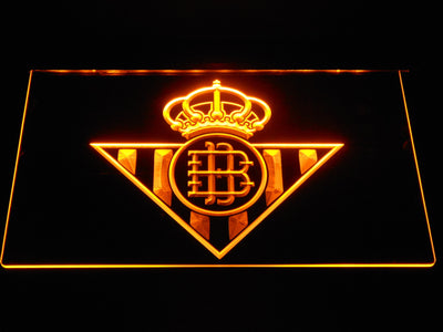 Real Betis LED Neon Sign - Yellow - SafeSpecial