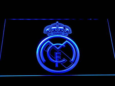 Real Madrid CF Crest LED Neon Sign - Blue - SafeSpecial