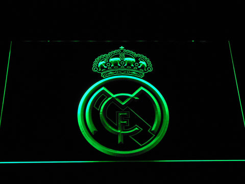 Image of Real Madrid CF Crest LED Neon Sign - Green - SafeSpecial