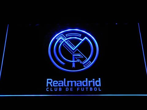 Real Madrid CF Crest LED Neon Sign - Legacy Edition - Blue - SafeSpecial