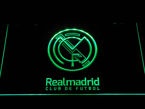 Real Madrid CF Crest LED Neon Sign - Legacy Edition - Green - SafeSpecial