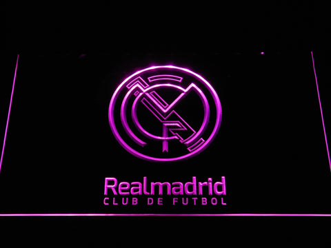 Real Madrid CF Crest LED Neon Sign - Legacy Edition - Purple - SafeSpecial