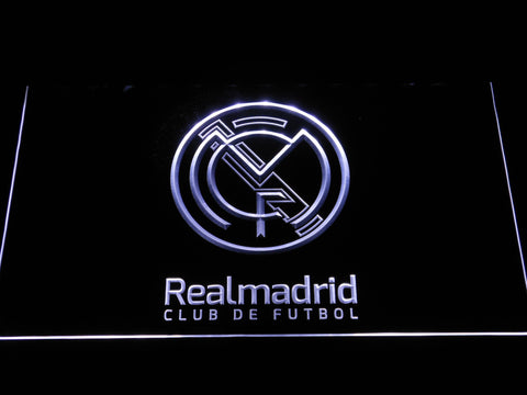 Real Madrid CF Crest LED Neon Sign - Legacy Edition - White - SafeSpecial