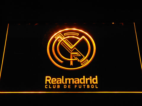 Real Madrid CF Crest LED Neon Sign - Legacy Edition - Yellow - SafeSpecial