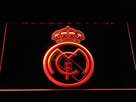 Image of Real Madrid CF Crest LED Neon Sign - Orange - SafeSpecial