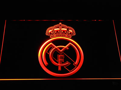 Real Madrid CF Crest LED Neon Sign - Orange - SafeSpecial