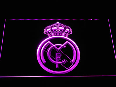 Real Madrid CF Crest LED Neon Sign - Purple - SafeSpecial