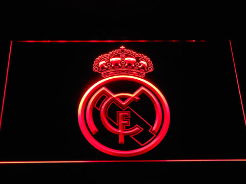Image of Real Madrid CF Crest LED Neon Sign - Red - SafeSpecial