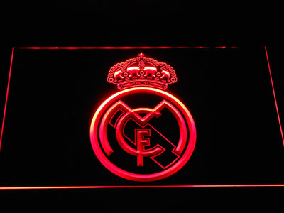 Real Madrid CF Crest LED Neon Sign - Red - SafeSpecial