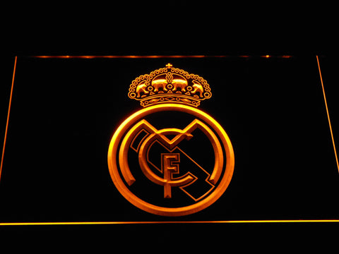 Image of Real Madrid CF Crest LED Neon Sign - Yellow - SafeSpecial