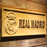 Real Madrid CF Crest Wooden Sign - - SafeSpecial