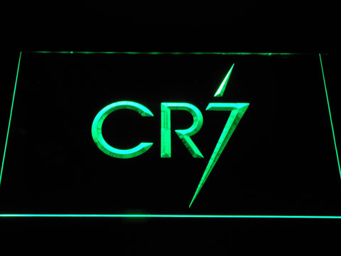 Real Madrid CF Cristiano Ronaldo CR7 Logo LED Neon Sign - Green - SafeSpecial