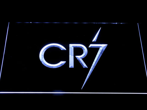Real Madrid CF Cristiano Ronaldo CR7 Logo LED Neon Sign - White - SafeSpecial