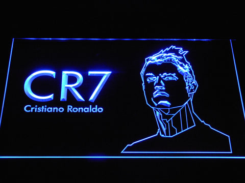 Image of Real Madrid CF Cristiano Ronaldo LED Neon Sign - Blue - SafeSpecial