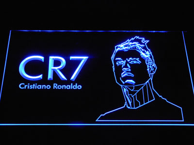 Real Madrid CF Cristiano Ronaldo LED Neon Sign - Blue - SafeSpecial