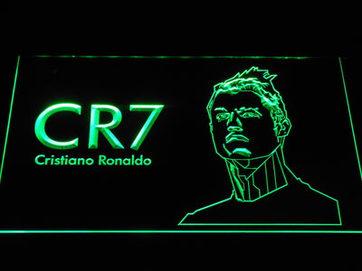 Real Madrid CF Cristiano Ronaldo LED Neon Sign - Green - SafeSpecial